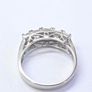 d181e5b0fdac Jewelry - Platinum Asscher Cut Diamond 5-Stone Anniversary B